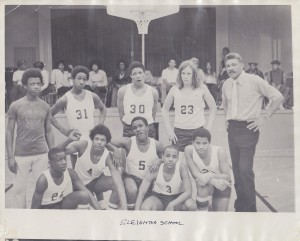 Basketball Team in Old Gym Image Courtesy of John Lynn